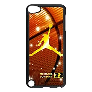 Panbox NBA Chicago Bulls Gold Michael Jordan Dunk Logo with Basketball Background iPod Touch 5th Generation Case Best Plastic Protection Cover for Apple iPod-Black-DIY by runtopwell