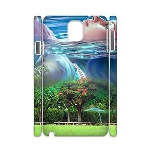 3D Samsung Galaxy Note 3 Case, Cute Little Girl Dream Case for Samsung Galaxy Note 3 {White}