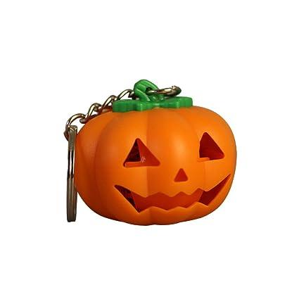 Amosfun Llavero de Halloween Llavero de Calabaza LED Llavero ...