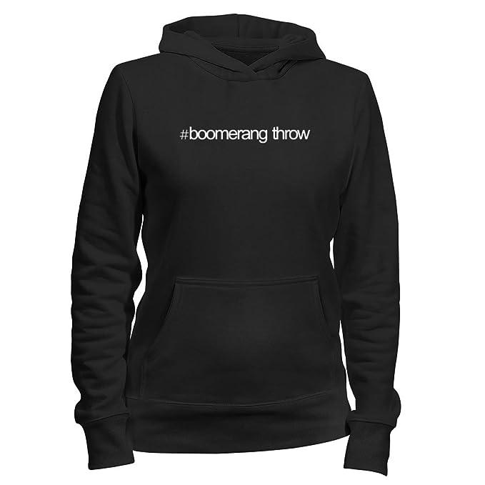 Idakoos Hashtag Boomerang Throw - Deportes - Sudadera con capucha para mujer: Amazon.es: Ropa y accesorios