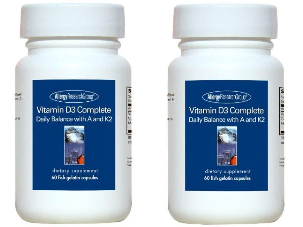 Allergy Research Group Vitamin D3 Complete, 60 Caps  (2 Pack) by Allergy Research Group