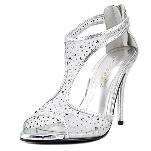 Caparros Womens Hope Open Toe Special Occasion Strappy Sandals Silver Metallic