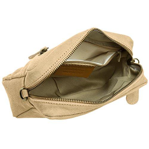 CASPAR Fashion - Bolso cruzados para mujer marrón claro