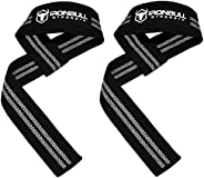 Lifting Straps (1 Pair) - Padded Wrist Support Wraps - for Powerlifting, Bodybuilding, Gym Workout, Strength T