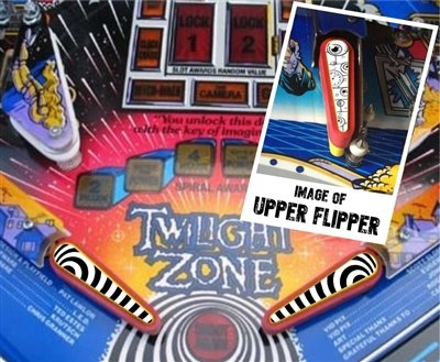 Twilight Zone Pinball - Pinball Flipper Bat Topper MOD for Twilight Zone (White & Black)