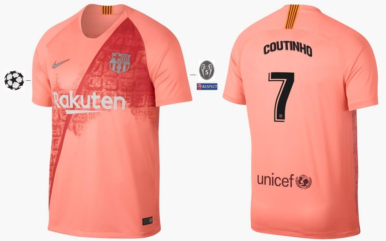 F.C. Barcelona Trikot Kinder 2018-2019 Third UCL - Coutinho 7