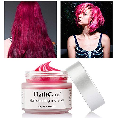 HailiCare Red Hair Wax 4.23 oz, Professional Hair Pomades, Natural Matte Hairstyle Max for Men Women (Red)