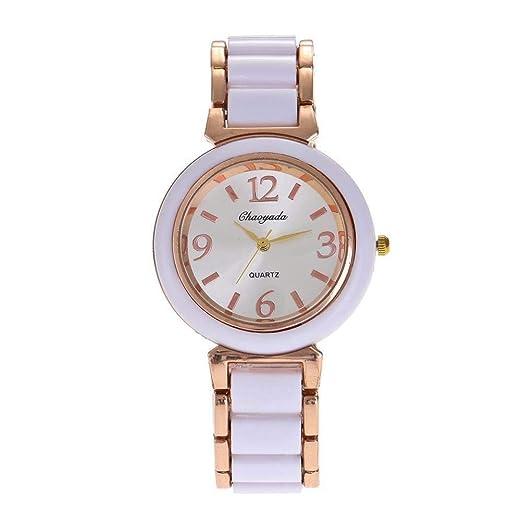 Hermosos Relojes del Reloj de Las Mujeres de Moda Reloj de Cuarzo Reloj de imitación de Ceramica Mujer: Amazon.es: Relojes