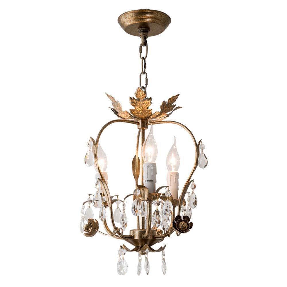 Retro Kronleuchter Kristall Klar und Metall Silberbronze Pendelleuchte 3-flammig E14 Kerzen Hängeleuchte esstisch Deckenlampe Höhenverstellbar Wohnzimmer Schlafzimmer Beleuchtung Lampe D31xH43CM
