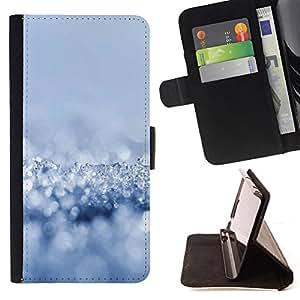 BullDog Case - FOR/Sony Xperia M2 / - / Fresh Snow /- Monedero de cuero de la PU Llevar cubierta de la caja con el ID Credit Card Slots Flip funda de cuer