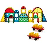 Magnetic Stick N Stack Award Winning 100 Piece Deluxe Shape Set Including 17 Different Shapes