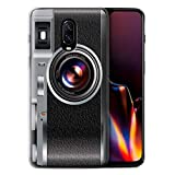 STUFF4 Gel TPU Phone Case/Cover for OnePlus 6T / Vintage Design/Camera Collection