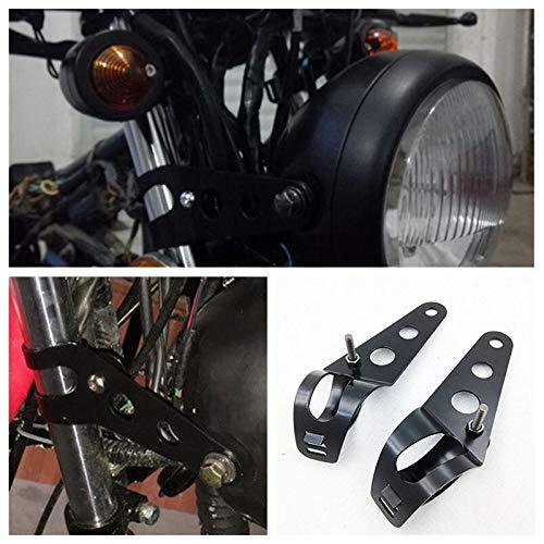 Zantec Staffe Faro,38-51mm Fanale Staffe di Montaggio Forcella Supporto Per Harley argento 2 accessori moto