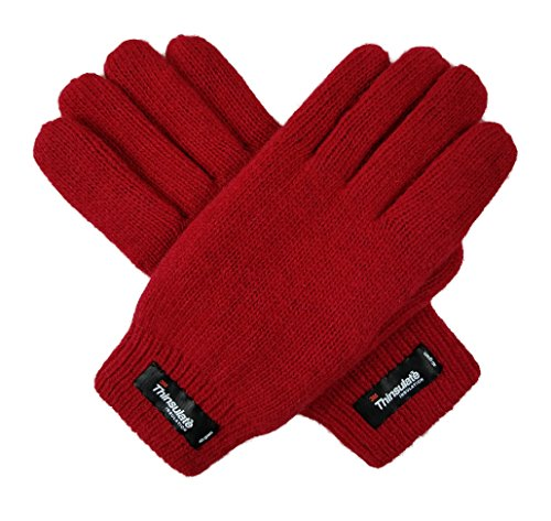 Bruceriver Women's Wool Plain Basic Knitted Gloves with Thinsulate Lining Size M - Wool Doeskin