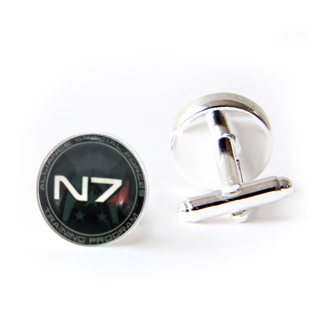 Unique Round Cufflinks Set N7 Glass Cuff Dress Shirt Links Wedding Business Anniversary Gift for Him