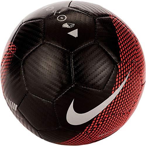 Nike Mini Balón de Fútbol CR7 Mercurial Negro/Rojo Niño: Amazon.es ...