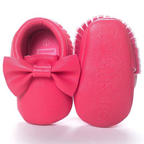 Caliente Borla Lazo Y Recién Pasos Niña Fossen De Zapatos Con Nacido Rosa Bebe Primeros PwpqOAz