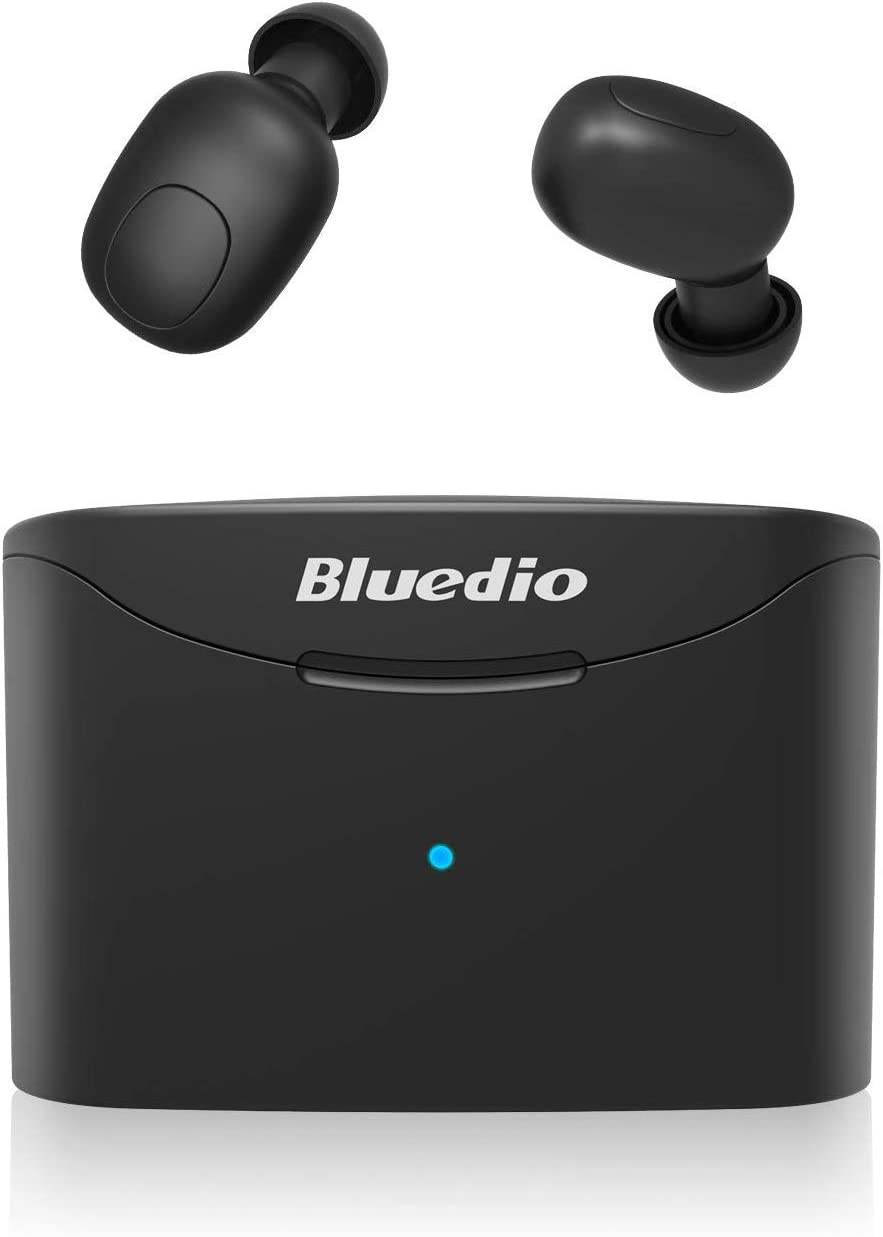 Bluedio T Elf True Wireless Earbuds Headphones, 35Hrs Bluetooth 5.0 Auto Pairing in-Ear Earphones, Wireless Headset with Charging Case Earpiece for iPhone, Android Phone, iPad, Laptop