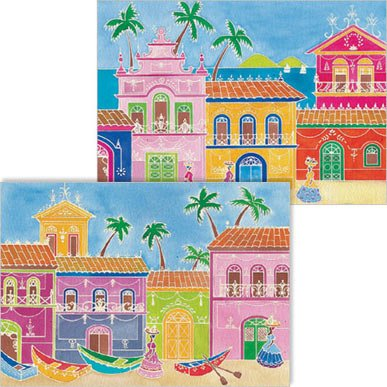 Villages Artistic Watercolor Art Kit with 2 magic canvases