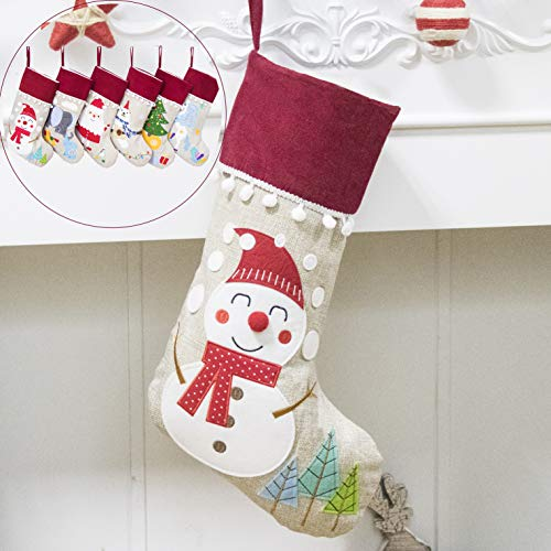 Beyond Your Thoughts 2018 Burlap Christmas Stocking (Extra