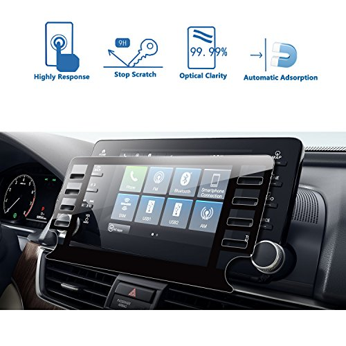 LFOTPP [Newest] 2018 Accord EX EX-L Touring EX-L 8-Inch Car Navigation Screen Protector, Tempered Glass Infotainment Display in-Dash Center Touch Screen Protector