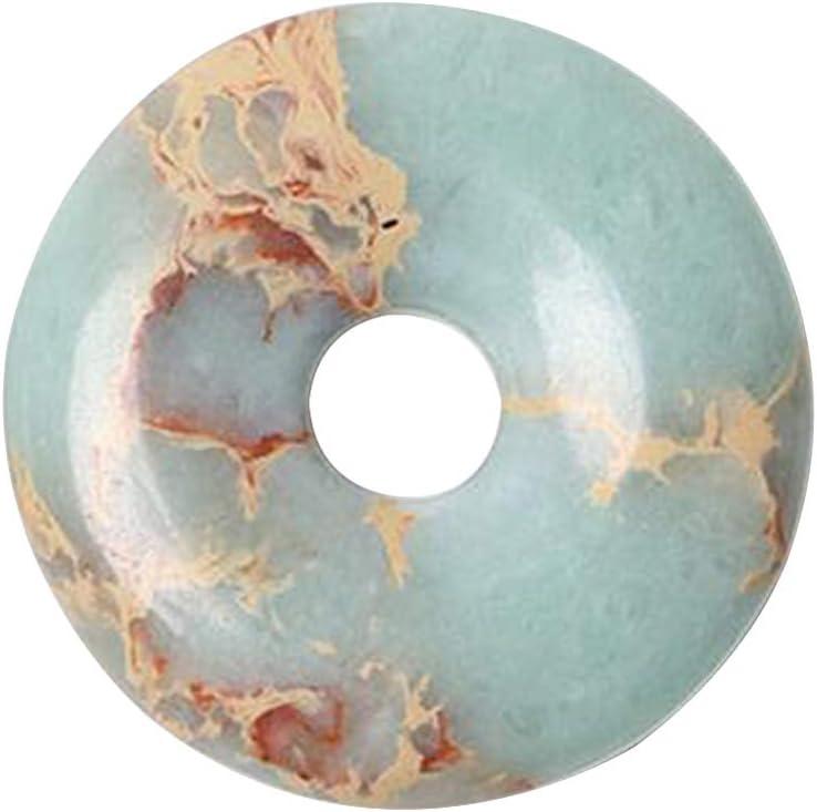 SUPVOX piedra colgante de donut piedra preciosa teñida de sedimento marino jaspe reiki curación chakra donut colgante de cuentas diy kit de collar de accressory de joyería (jade)