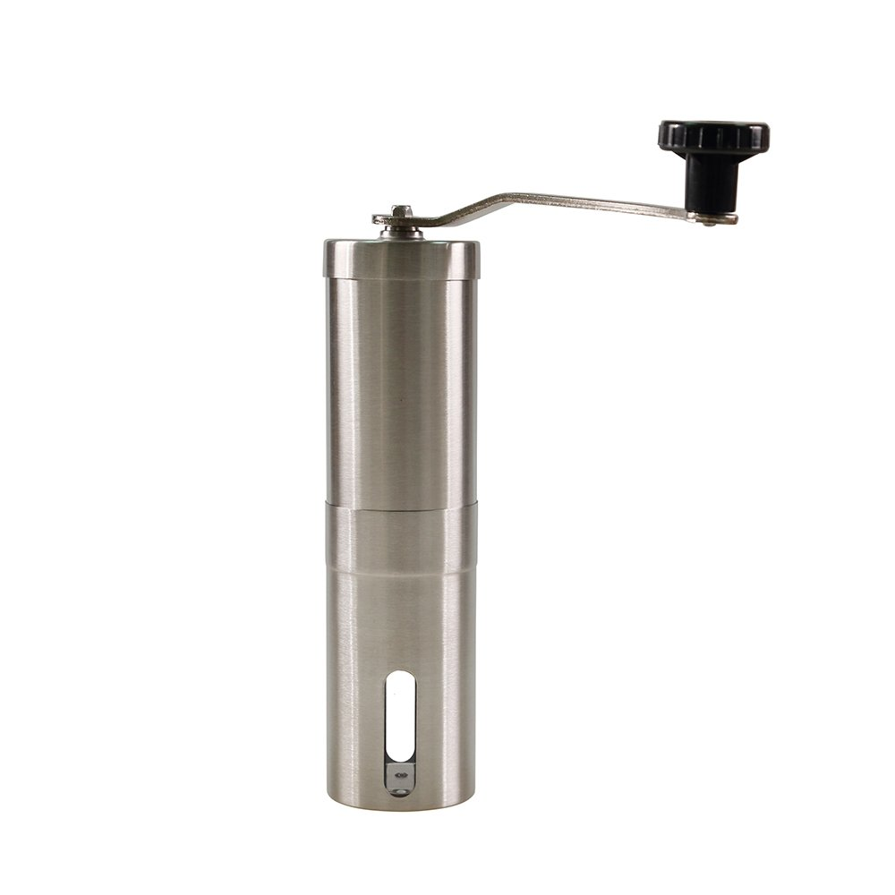 Manual Coffee Grinder: Stainless Steel, Adjustable Conical Burr, Portable Coffee Bean Grinder by Cuppa Coffee