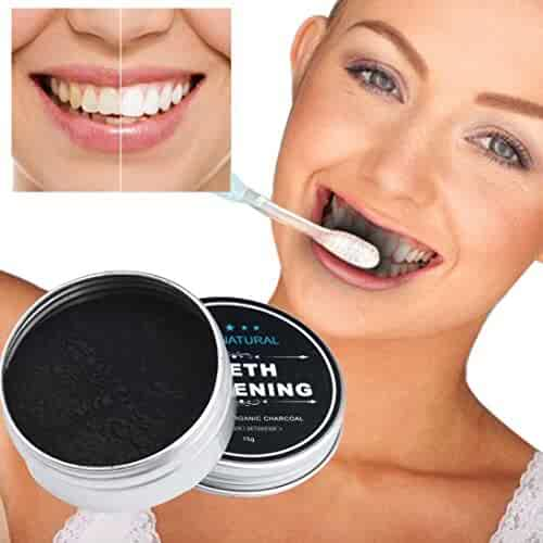 Lavany Teeth Whitening Powder Natural Activated Organic Charcoal Bamboo Toothpaste for Healthy Whiter Teeth (A)