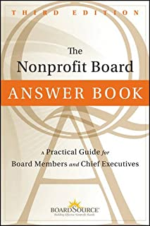 Book Cover: The Nonprofit Board Answer Book: A Practical Guide for Board Members and Chief Executives