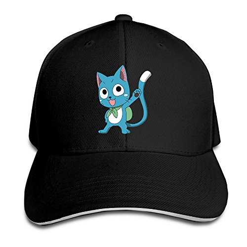 famouse-anime-happy-fairy-tail-cat-sports-caps-sandwich-bill-cap