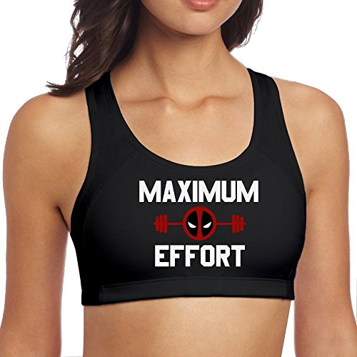 Price comparison product image ULIKETEES Womens Deadpool Yoga Sports Bra