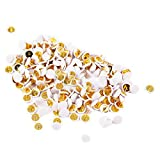 Ornerx Flat Push Pins Decorative Thumbtacks for Cork White 200 Count