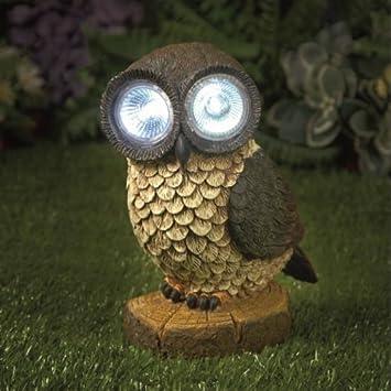 Beau Large Solar Owl Garden Light