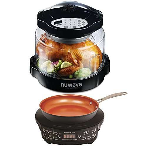 NuWave Oven Pro Plus with Black Digital Panel & Compact Induction Cooktop w/ Fry Pan