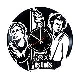 Sex Pistols Vinyl Clock - Sex Pistols Punk Rock Band Vinyl Records Wall Art Room Decor Handmade Decoration Party Supplies Theme - Best Original Present Gift Idea - Vintage Modern Style