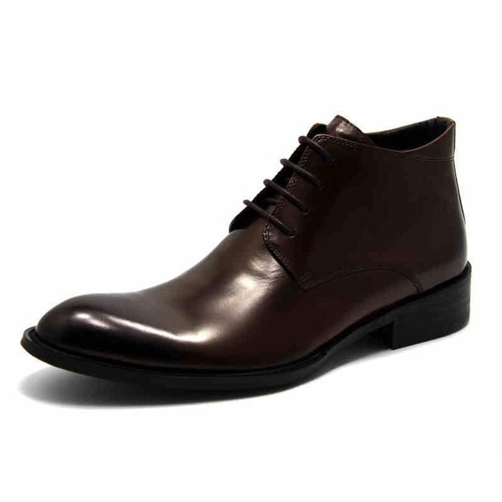 SUNNY 春と冬のブーツ英国スタイルのビジネスPUブーツブラックブラウン (色 : 2, サイズ さいず : EU39/UK6/CN39) EU39/UK6/CN39 2 B07KVW1PWT