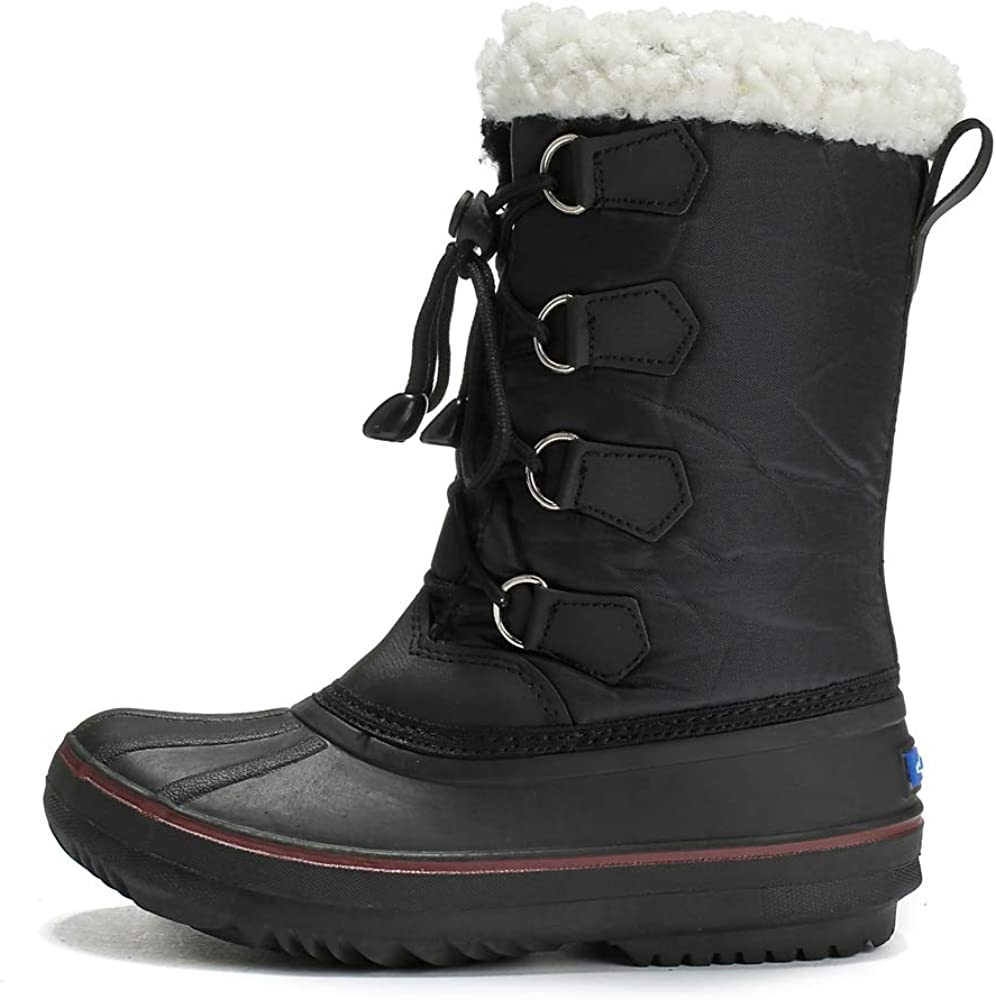 DRKA Toddler Snow Boots for Kids Boy Girls Waterproof Insulated Rubber Warm Soft Winter Shoes for Outdoor Cold Weather