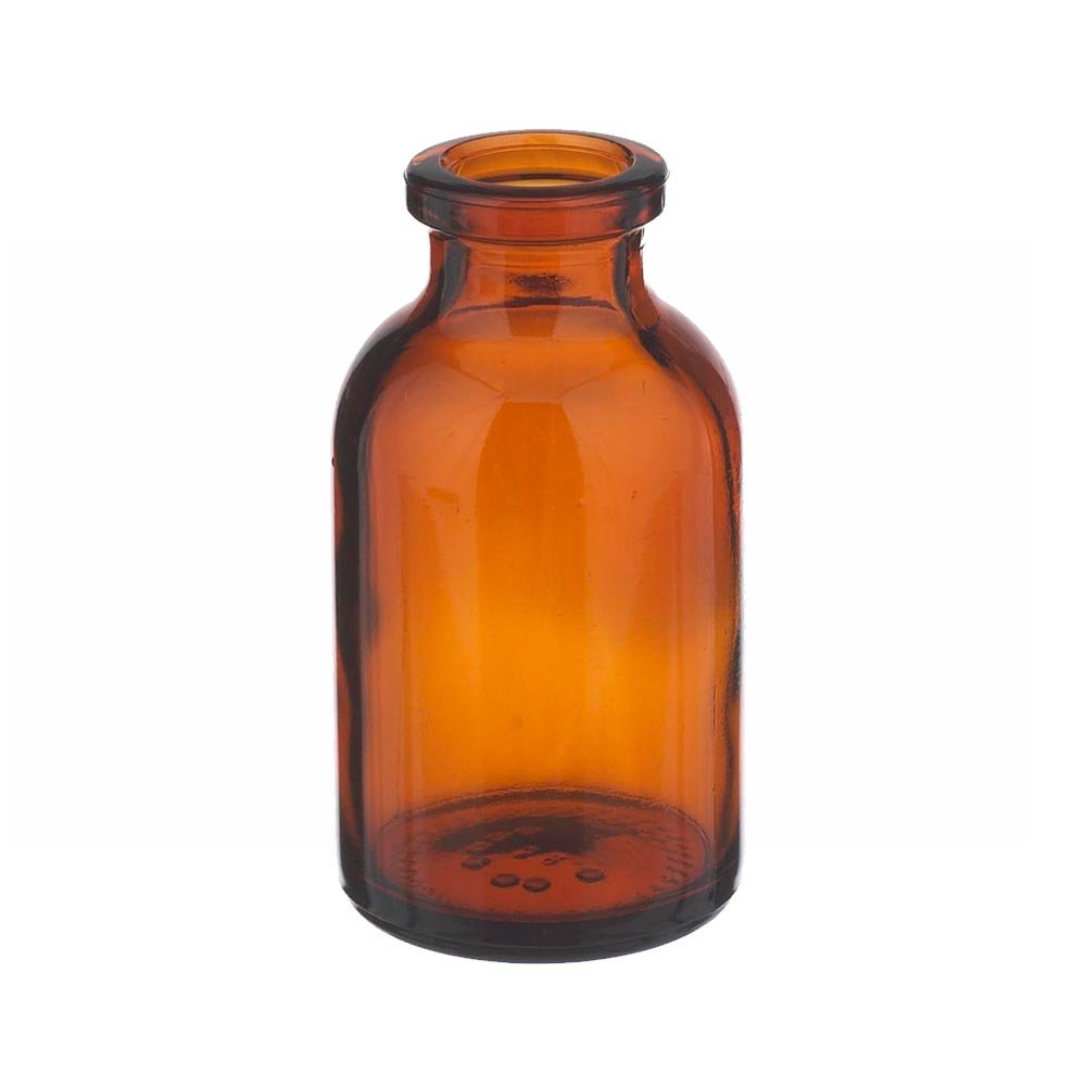 Wheaton 223762 Serum Bottle 20mL, Amber Borosilicate Glass, Mouth Dimensions: 13mm ID x 20mm OD, Bottle Dimensions: 32mm Diameter x 58mm Height (Case of 288)