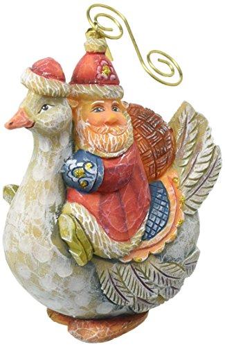 G. Debrekht Santa on Goose Figurine Ornament ()