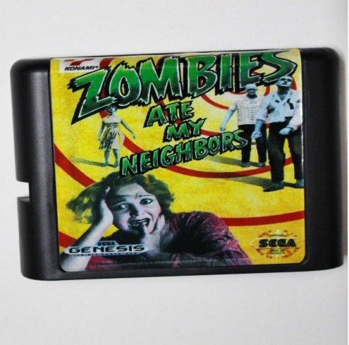 Taka Co 16 Bit Sega MD Game Zombies Ate My Neighbors 16 bit MD Game Card For Sega Mega Drive For Genesis