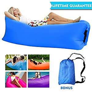 Easy To Inflate Inflatable Lounger Chair Couch For Adults 220lb, Sturdy  Inflatable Air Lounger Sofa With Carry Bag For Beach/Camping/Outdoor/Indoor  Sleeping