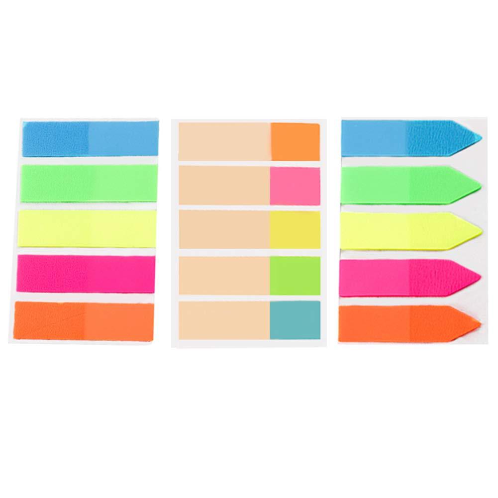 Segnapagina Tenlife post–autoadesivo documento bandiere con freccia bandiere divisori–3x confezione da 5blocchi, 20pennarelli per Pad