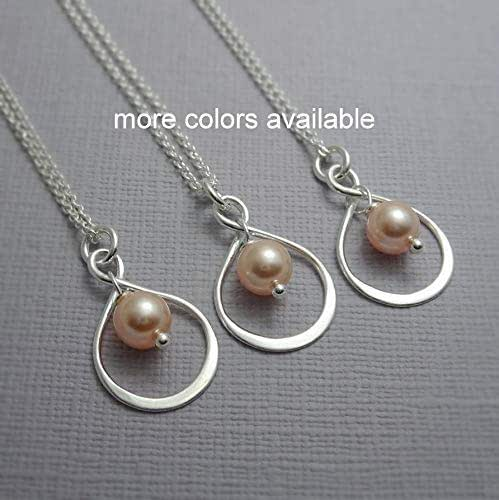 Peach Pearl Necklace: Amazon.com: Peach Pearl Necklace, Sterling Silver Infinity