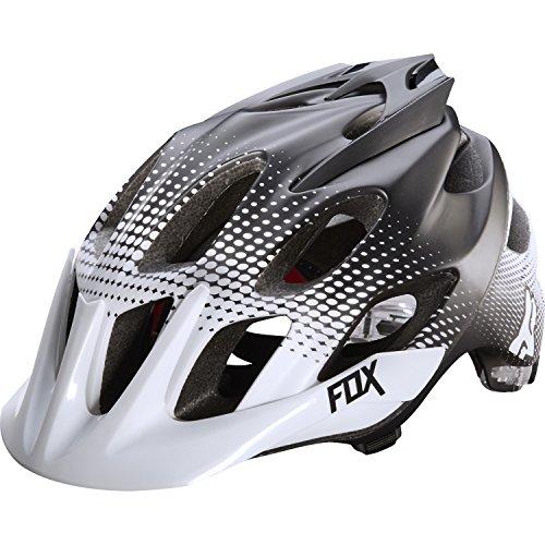 Fox Head Flux Race Helmet, White/Black, Small/Medium - Fox Flux Mtb Helmet