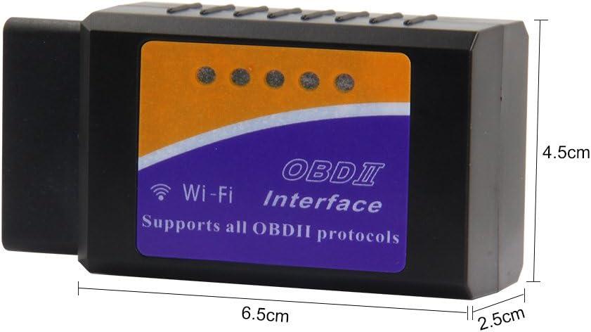 features 3000/codice database Android e Windows Mr auto lettore di codice OBD2/auto Scan Tool OBD scanner collegamento tramite WiFi senza fili con dispositivo iOS