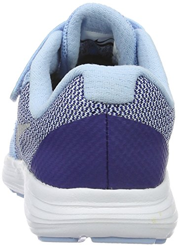 NIKE Kids' Revolution 3 (Psv) Running-Shoes, Bluecap/Metallic Silver/Deep Royal Blue, 1 M US Little Kid by Nike (Image #2)