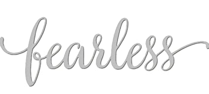 Amazon Com Fearless Metal Wall Art Decoration Words And