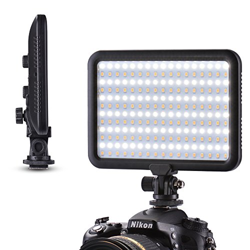 Tycka Camera 204 Led Lighting Panel, Video Photo Studio Light, 1300lm Stepless Dimmable Brightness, 3200K - 5600K White and Yellow light, no ghosting, ultrabright and ultrathin, for DSLR DV Camcorder by TYCKA