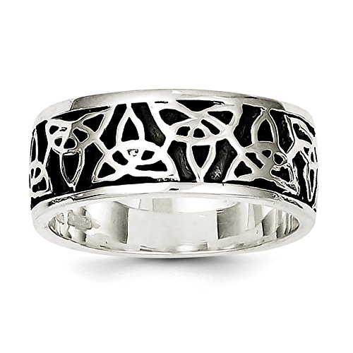 925 Celtic Antiqued Knot Silver - 925 Sterling Silver Antiqued Celtic Knot Ring Size 11