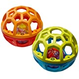 Playkidz Super Durable Developmental Bendy Ball infant ball for kids. (Colors May Vary)